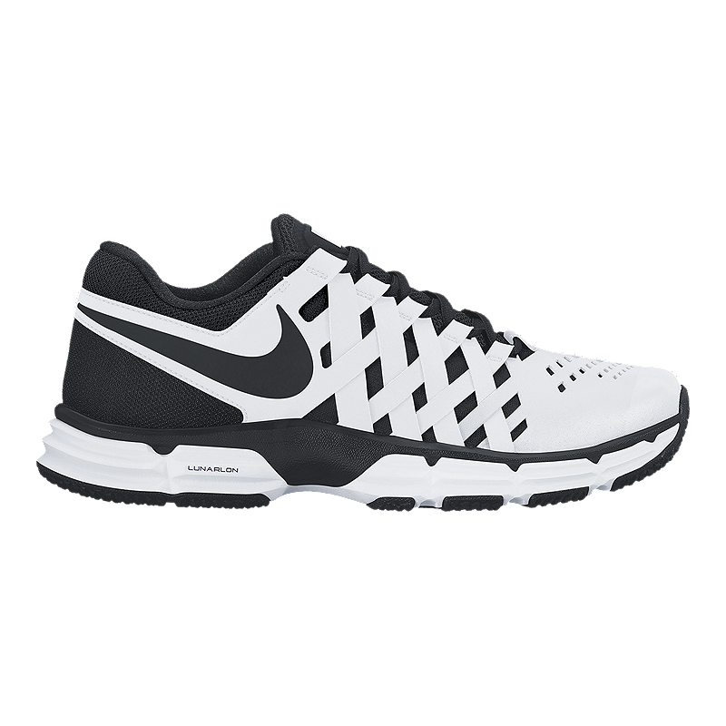 6c58c6843e3 Nike Men s Lunar Fingertrap TR 4E Wide Width Training Shoes - White Black