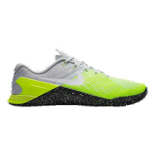 Training Nike Men's Shoes Metcon Chek GreyvoltSport 3 TKclFJ1