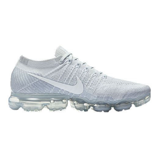7972de5424 Nike Women's Air VaporMax FlyKnit Running Shoes - Platinum/White | Sport  Chek