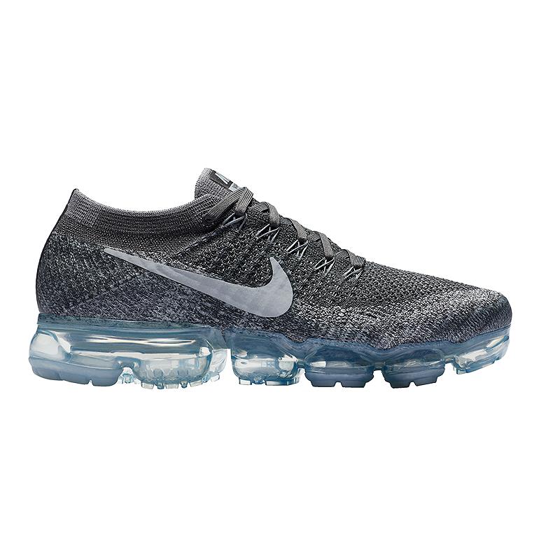 Nike Women s Air VaporMax FlyKnit Running Shoes - Dark Wolf Grey Platinum  fe1c981e30