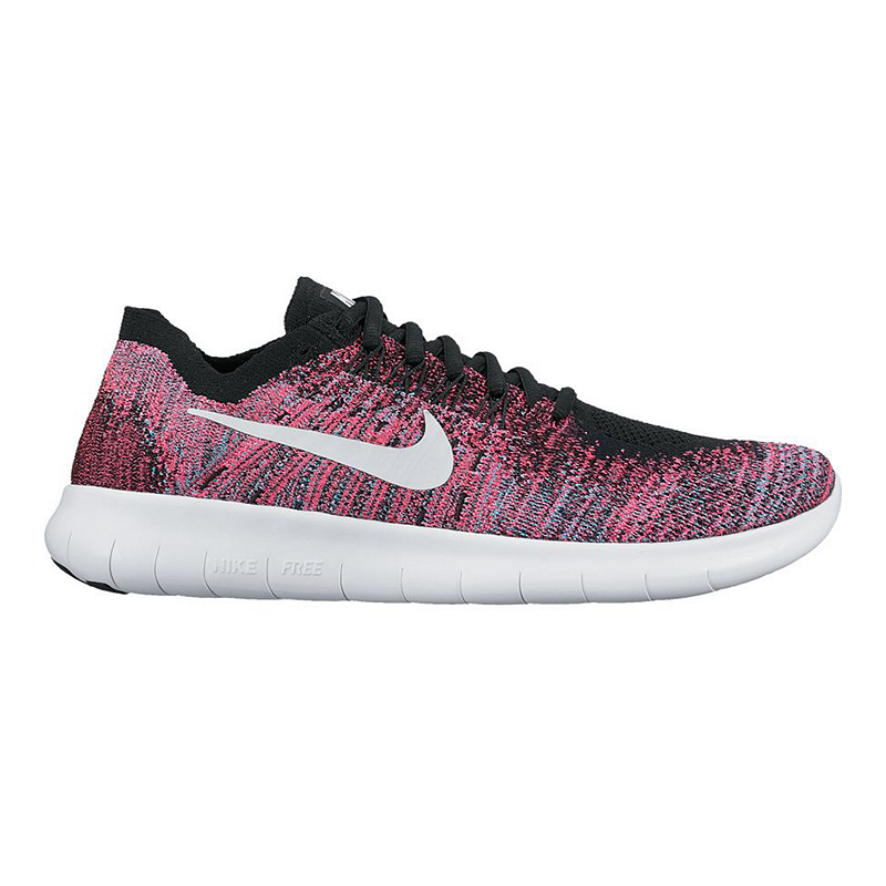 04d22399cc51 Nike Women s Free RN FlyKnit 2017 Running Shoes - Berry Pink Blue Black