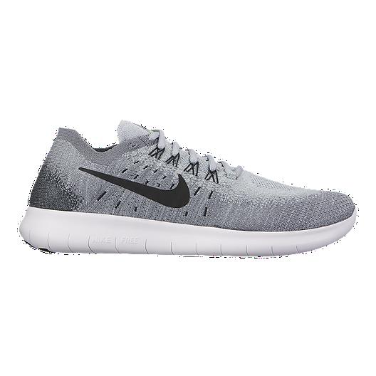 999487571b58 Nike Women s Free RN FlyKnit 2017 Running Shoes - Grey Black