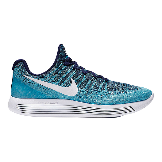 9748292a1b7b2 Nike Women s LunarEpic Low FlyKnit 2 Running Shoes - Blue White Fog ...