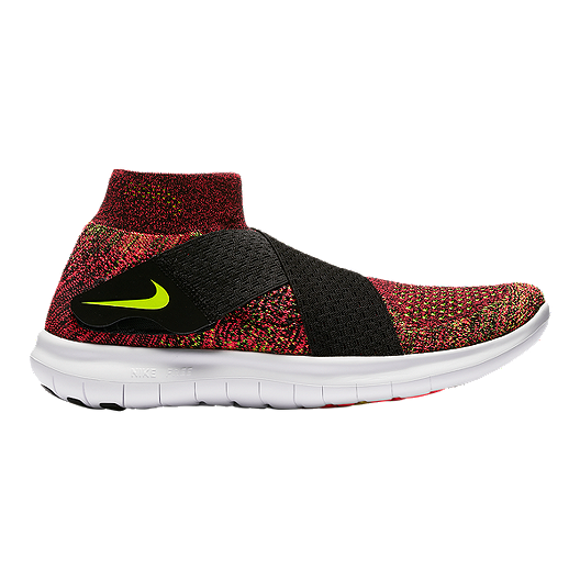 436467fe8548d2 Nike Women s Free RN Motion FlyKnit 2017 Running Shoes - Red Volt  Green Black