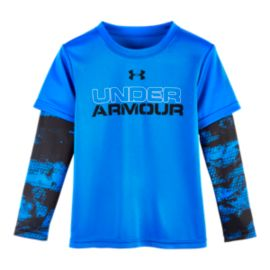 Under Armour Boys' 2 Layer Camo Long Sleeve Shirt