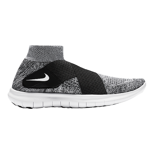 8c51a823767a2 Nike Women s Free RN Motion Flyknit 2017 Running Shoe - Grey Black White