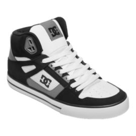 DC Men's Spartan WC High-Top Skate Shoes - Black/Grey/White
