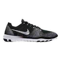 f16ef3b02626 image of Nike Women s Free Focus FlyKnit 2 Training Shoes - Black White  with sku
