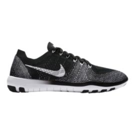 Nike Women's Free Focus FlyKnit 2 Training Shoes - Black/White