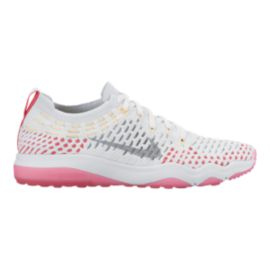 Nike Women's Air Zoom Fearless FlyKnit Training Shoes - White/Pink