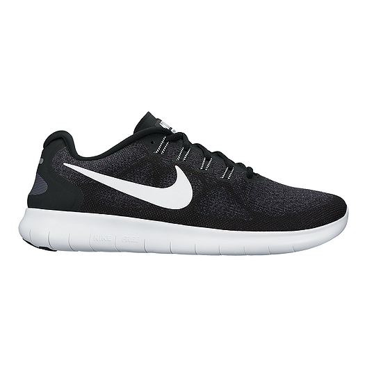 size 40 a few days away buy Nike Men's Free RN 2017 Running Shoes - Black/White