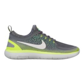 Nike Men's Free RN Distance 2 Running Shoes - Stealth Grey/Volt Green