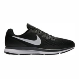 Nike Men's Air Zoom Pegasus 34 Running Shoes - Black/White