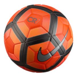 nike cr7 prestige soccer ball orange black sport chek