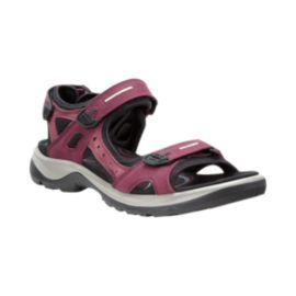 ECCO Women's Yucatan Sandals - Port/Black