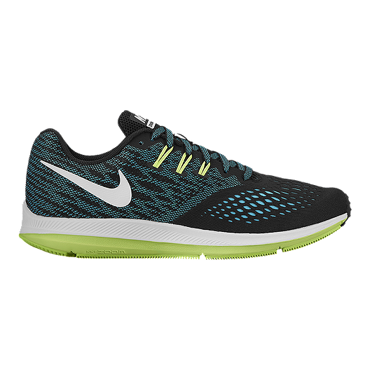 e14bc1ea61996 Nike Men s Zoom Winflo 4 Running Shoes - Black Teal Volt Green ...