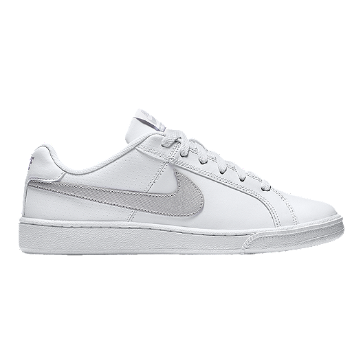 6b19ddac1ac829 Nike Women s Court Royale Shoes - White Silver