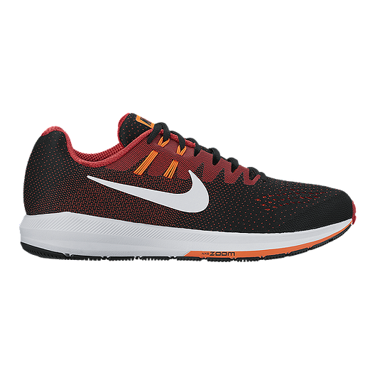 competitive price 3b953 b4c50 Nike Men's Air Zoom Structure 20 Running Shoes - Black/Red ...