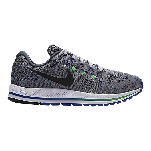 c68819e63029 Nike Men s Air Zoom Vomero 12 Running Shoes - Stealth Grey Blue Green