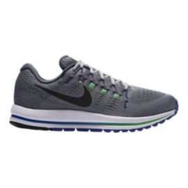 Nike Men's Air Zoom Vomero 12 Running Shoes - Stealth Grey/Blue/Green