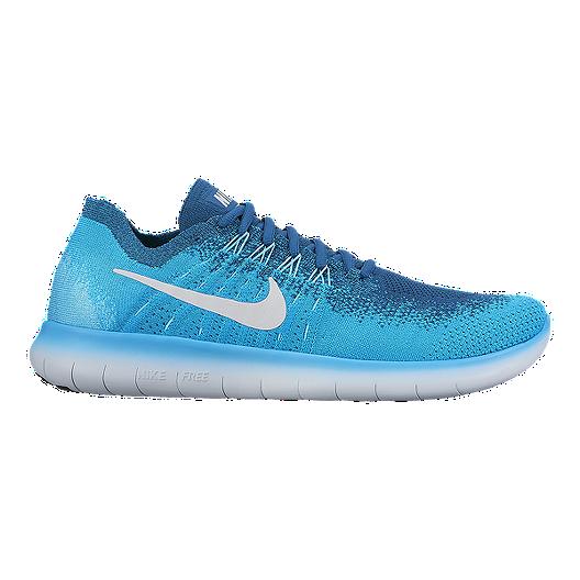 acd3d2da4aaf3 Nike Men s Free RN FlyKnit 2017 Running Shoes - Blue Lagoon