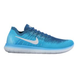 Nike Men's Free RN FlyKnit 2017 Running Shoes - Blue Lagoon