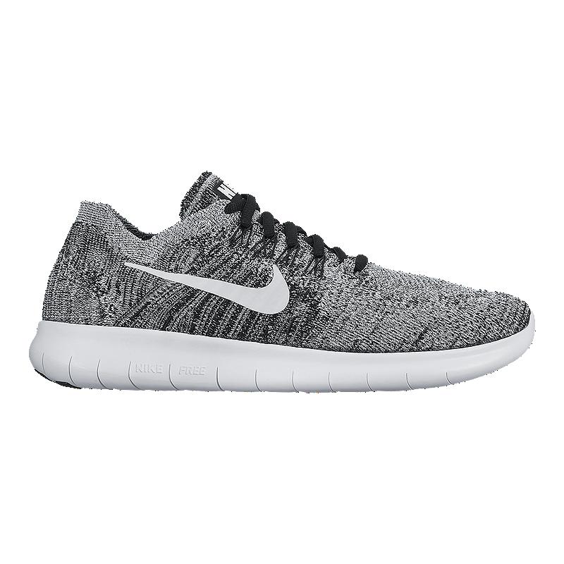 6113781b8dca Nike Men s Free RN FlyKnit 2017 Running Shoes - Volt Green Pattern Black