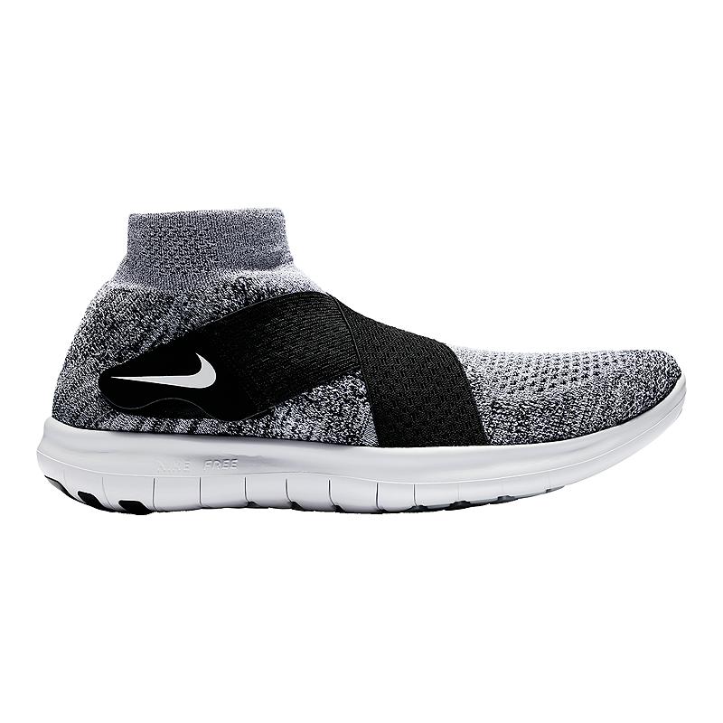 13ec1051cfa75 Nike Men s Free RN FlyKnit Motion 2017 Running Shoes - Black White ...