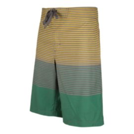 Firefly Men's Epic Striped 21 Inch Swim Shorts - Yellow
