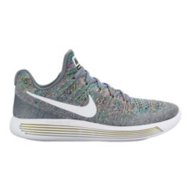Nike Men's LunarEpic Low FlyKnit 2 Running Shoes - Grey/White/Black