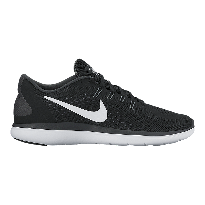 7cdbf016b3b Nike Men s Flex 2017 RN Running Shoes - Black White