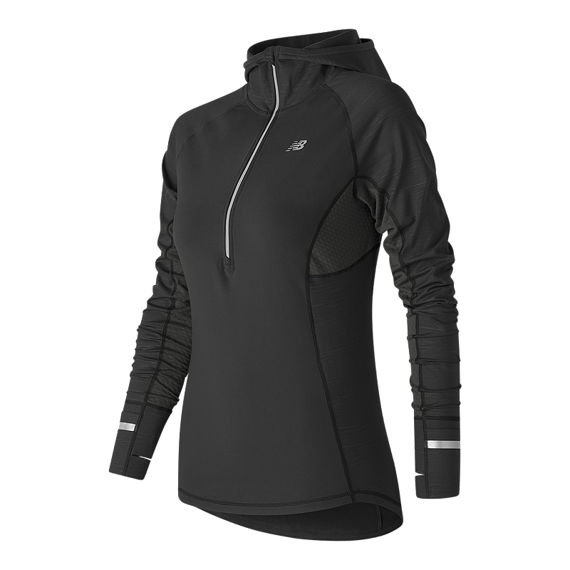 Sport Chek Heated Gloves: New Balance Heat Women's Hooded Half Zip Long Sleeve