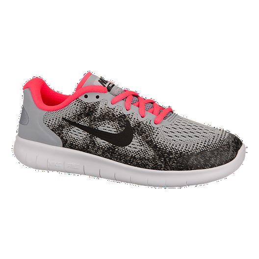 meet 6aaf2 fb9b9 Nike Girls  Free Run 2 Grade School Running Shoes - Grey Pink   Sport Chek