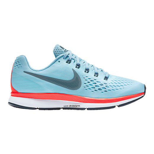 sports shoes 46157 3f79f Nike Women s Air Zoom Pegasus 34 Running Shoes - Light Blue Red   Sport Chek