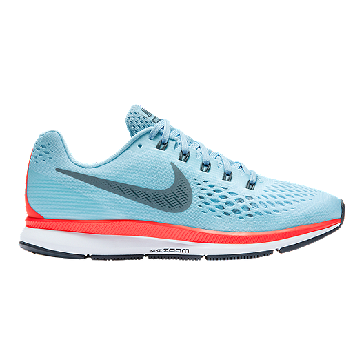c929ab0d5856 Nike Women s Air Zoom Pegasus 34 Running Shoes - Light Blue Red ...