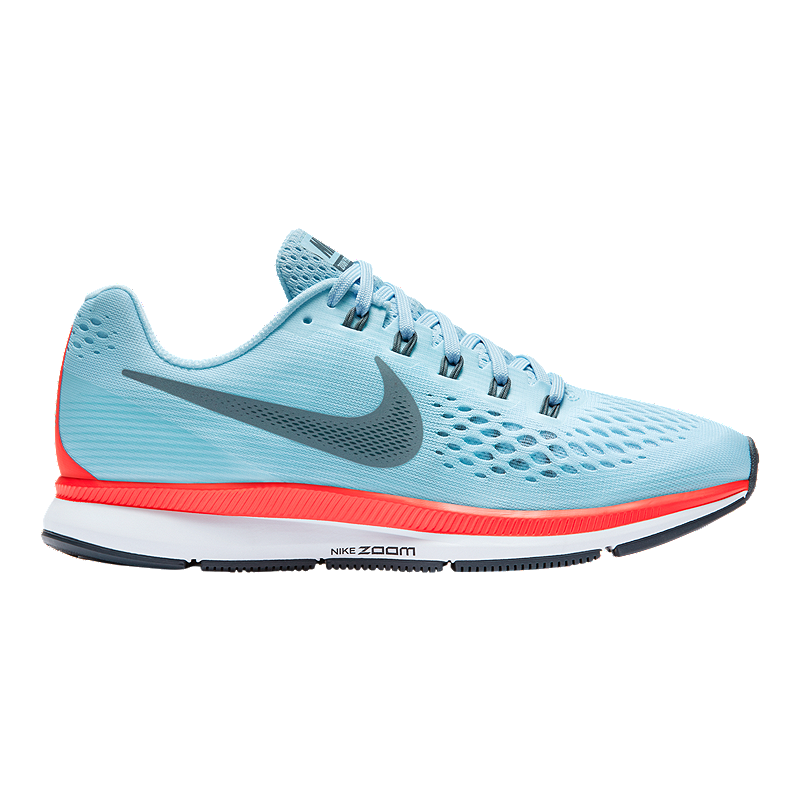 00b7cf078e Nike Women s Air Zoom Pegasus 34 Running Shoes - Light Blue Red ...