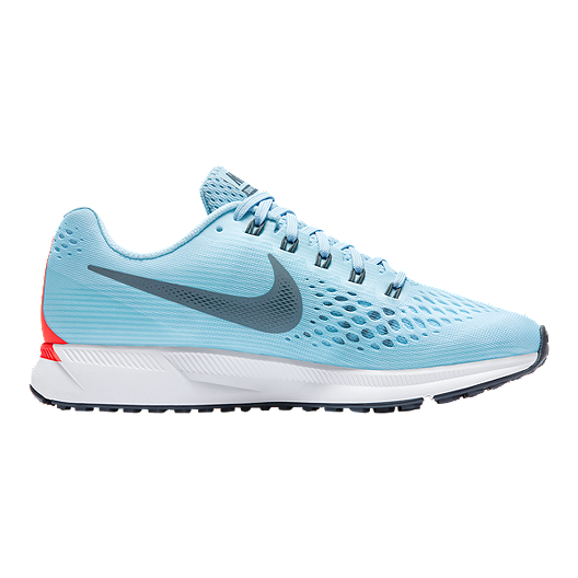 on sale ee231 53b56 Nike Women s Air Zoom Pegasus 34 Running Shoes - Light Blue Red