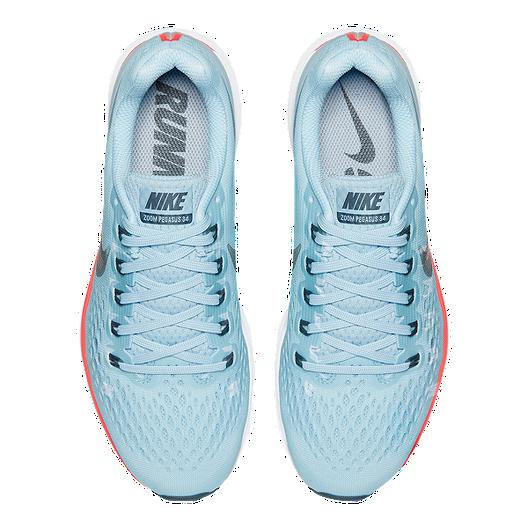 sports shoes a6cc4 ac343 Nike Women s Air Zoom Pegasus 34 Running Shoes - Light Blue Red. (1). View  Description