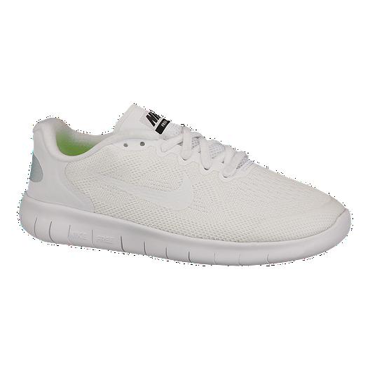 the best attitude 869ba 0c79b Nike Kids' Free Run 2 Grade School Running Shoes - White ...