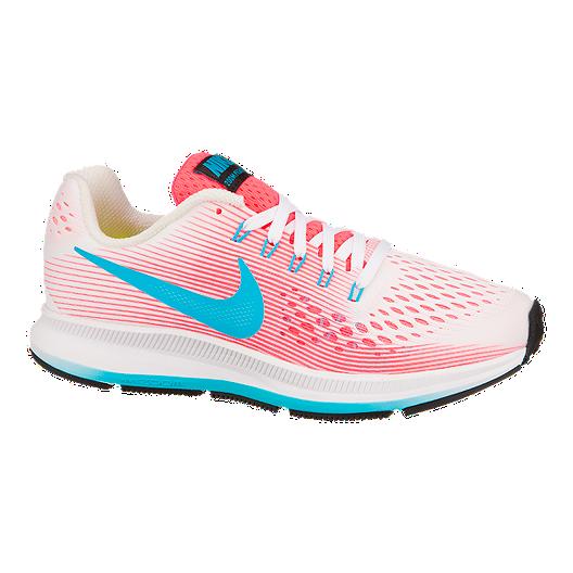 factory authentic df3f0 f65aa Nike Girls  Zoom Pegasus 34 Grade School Running Shoes - Pink Blue   Sport  Chek