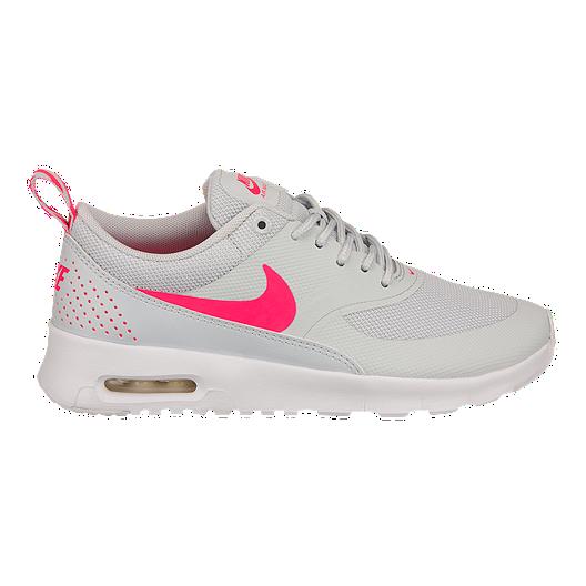 Nike Girls' Air Max Thea Grade School Casual Shoes PlatinumPinkWhite