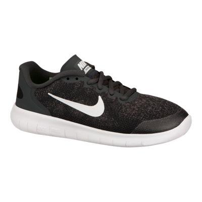 Nike Kids' Free Run 2 Grade School Running Shoes - Black/Grey/White