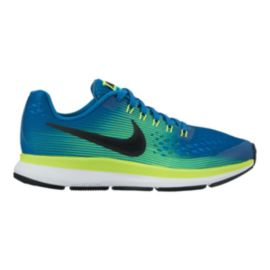 Nike Kids' Zoom Pegasus 34 Grade School Running Shoes - Blue/Green