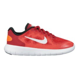 Nike Kids' Free RN 2  Preschool Running Shoes - Red/Black/White