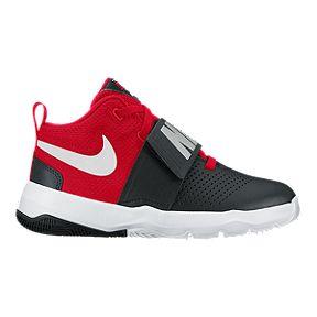 Nike Kids Team Hustle D 8 Grade School Basketball Shoes Black Red