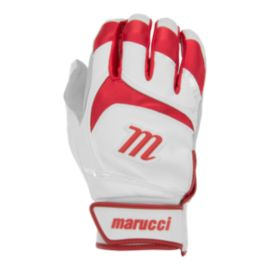 Marucci Signature Batting Gloves - White/Red