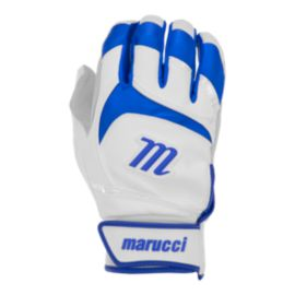 Marucci Signature Batting Gloves - White/Blue