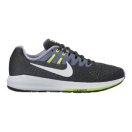 Nike Women's Air Zoom Structure 20 Running Shoes - Black/White/Green