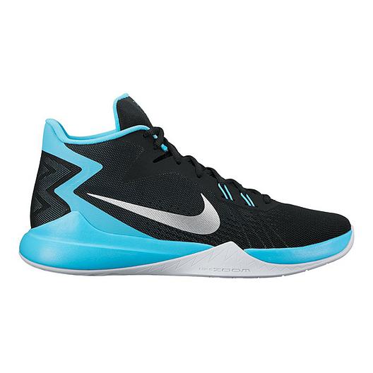 e7d578f8cc81b Nike Men's Zoom Evidence Basketball Shoes - Black/Blue | Sport Chek