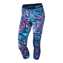 Nike Pro Women's Painted Palms All Over Print Capri Tights